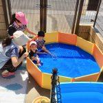 プールの時に地震を想定して避難訓練をしました。